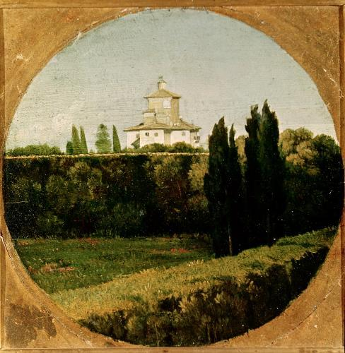 View of the Villa Medici Rome by Jean-Auguste-Dominique Ingres