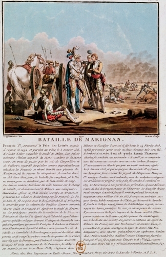 Episode of the Battle of Marignan 1790 by Desfontaines