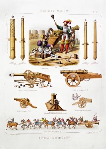French artillery from 'L'Artillerie Francaise' by Johannes Moltzheim