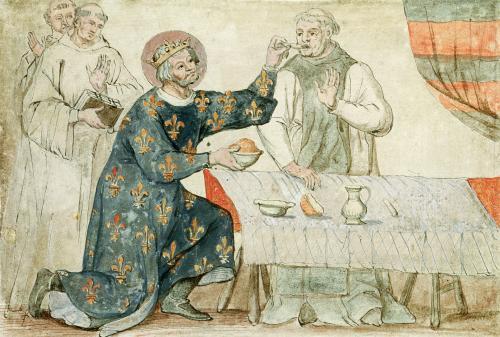 St. Louis feeding a miserly monk by Nicolas Claude Fabri de Peiresc