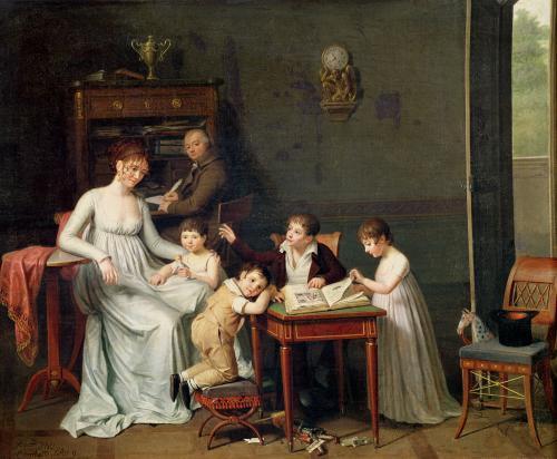 Portrait of a Family 1800 by Joseph Marcellin Combette