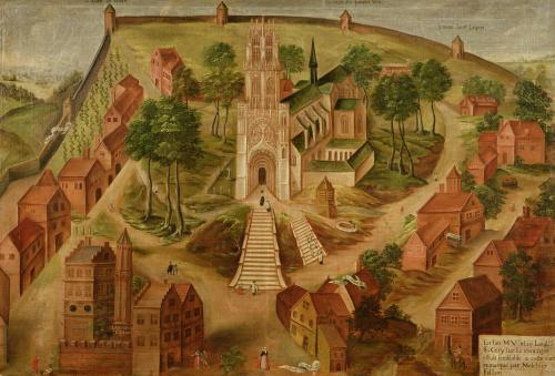 The Church of Saint-Gery Cambrai on the Mont des Boeufs 1543 by Melchior Fallon