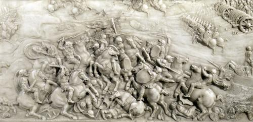 The Battle of Agnadel detail from the Tomb of Louis XII by Jean Juste I