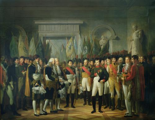 Napoleon I receiving the Deputies of the Conservative Senate at the Royal Palace in Berlin by Rene Theodore Berthon