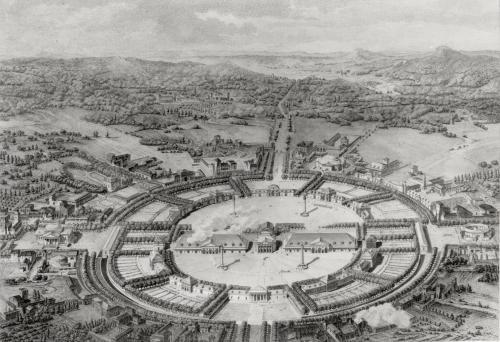 Perspective View of the Town of Chaux by Claude Nicolas Ledoux