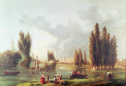 The Park and Chateau at Mereville by Hubert Robert