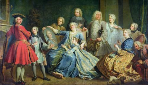 Madame Mercier Surrounded by her Family 1731 by Jacques Le Romain Dumont
