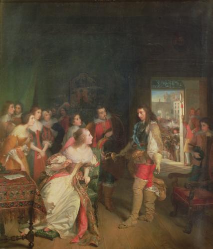Meeting Between Louis II de Bourbon and Anne-Marie-Louise d'Orleans by Sophie nee Fremiet Rude