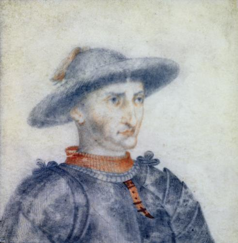 Portrait of Rene I Duke of Anjou by Thierry Bellange