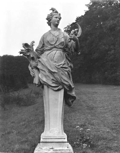 Summer statue in the gardens by Anonymous
