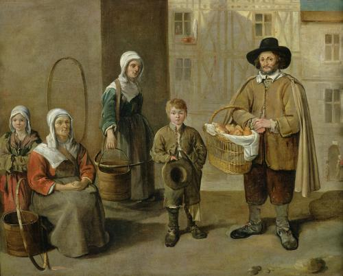 The Bread Seller and Water Carriers by Jean Michel