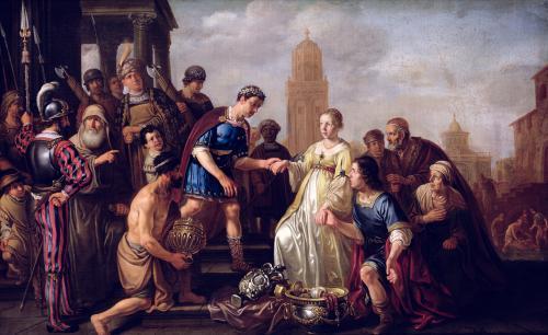 The Continence of Scipio 1643 by Nicolaes Claes Cornelisz Moeyaert