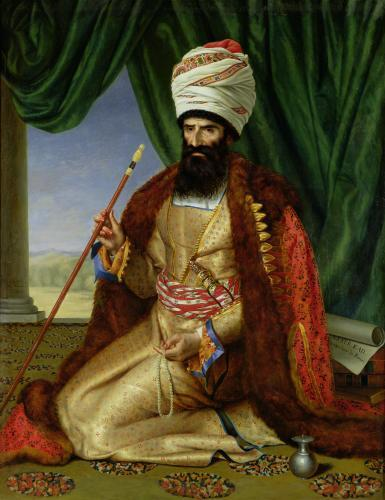 Portrait of Asker-Khan Ambassador of Persia 1809 by Cesarine nee Mirvault Davin