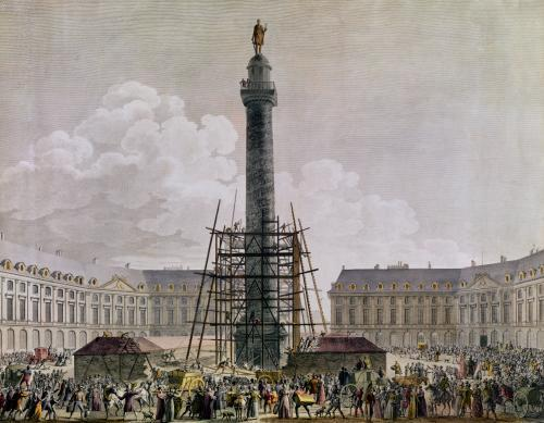 Construction of the Vendome Column in 1803 by French School