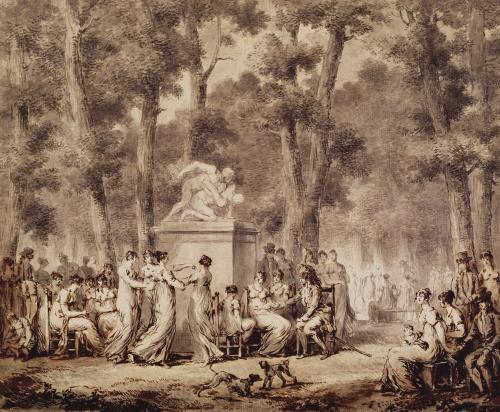 The Jardin des Tuileries in 1808 by Jean Pierre Norblin