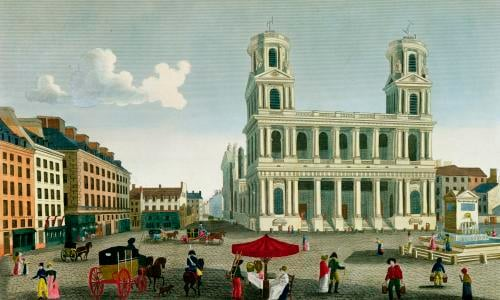 View of the Church of Saint-Sulpice by Henri Courvoisier-Voisin