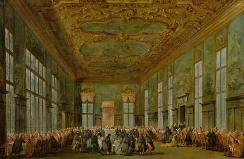 Doge Alvise Mocenigo IV Giving a Banquet for the Ambassadors 1776 by Francesco Guardi