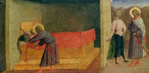 St. Julian the Hospitaller Killing his Mother and Father by Tommaso Masolino da Panicale