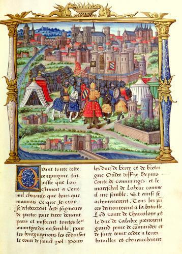 The Arrival of the Count of Charolais and his Army at the Siege of Paris by French School