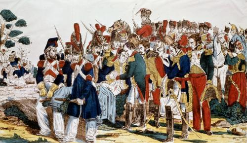 Napoleon I at Essling at the time of the death of Jean Lannes by French School
