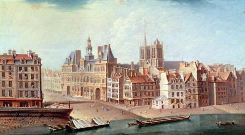 Place de Greve in 1750 by Nicolas & Jean Baptiste Raguenet