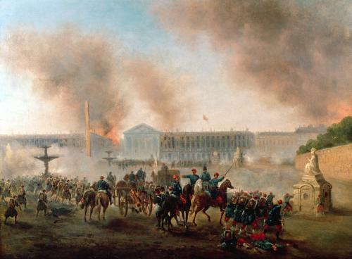 Battle in the Place de la Concorde 1871 by Louis Boulanger