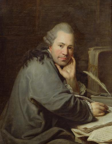 Portrait of a Writer 1772 by Guillaume Dominique Jacques Doncre