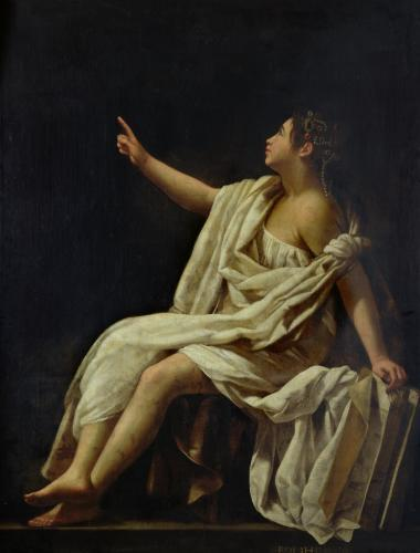 Polyhymnia the Muse of Lyric Poetry 1620 by Giovanni Baglione