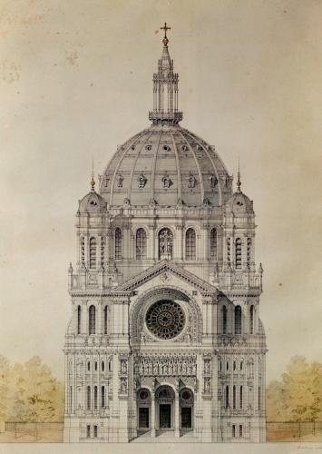 West facade of the Church of St. Augustin Paris by Victor Baltard