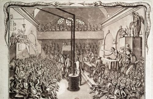 Meeting of the Jacobin Club 1792 by Vilette