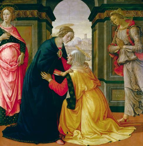 The Visitation 1491 by Domenico Bigordi Ghirlandaio