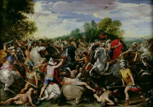 The Victory of Tullus Hostilius by Guiseppe Cesari
