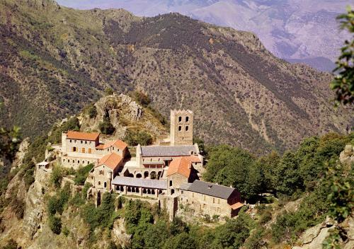 View of the Abbey of St. Martin du Canigou by French School