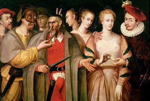 Actors of the Commedia dell'Arte by Francois Bunel