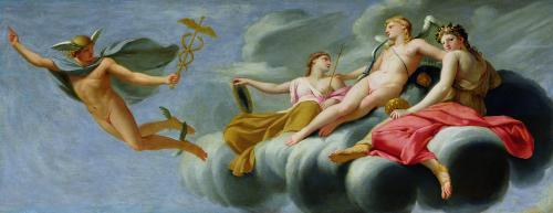 Cupid Ordering Mercury to Announce his Power to the Universe 1646 by Eustache Le Sueur