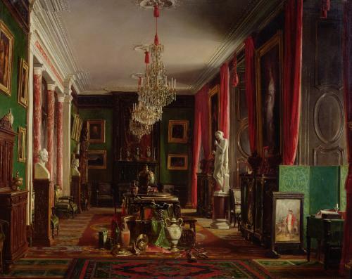 Interior of the Office of Alfred Emilien Count of Nieuwerkerke by Charles Giraud