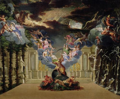 Set design for 'Atys' by Jean-Baptiste Lully by French School