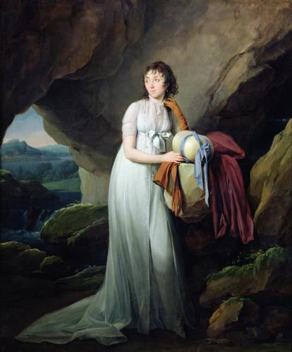 Portrait of a Woman in a Cave 1805 by Louis-Leopold Boilly