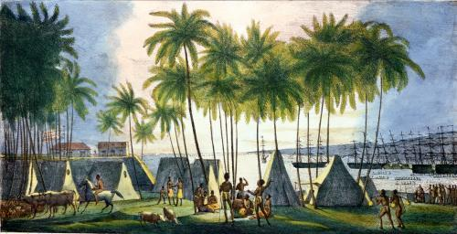 Port of Hanarourou in the Sandwich Islands by Ludwig Louis Choris