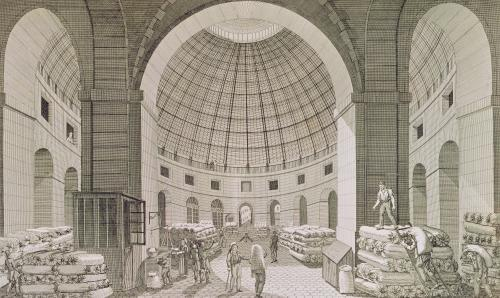 View of the Wheat Market and the Cupola by Pierre Courvoisier