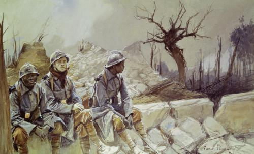 Dampierre July 1916 by Francois Flameng