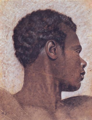 Head of a Negro by Jean-Louis-André-Théodore Géricault