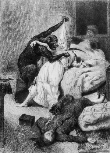 Illustration for 'The Murders in the Rue Morgue' by Edgar Allan Poe by Daniel Urrabieta Vierge