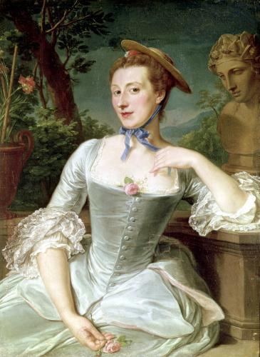 Jeanne Antoinette Poisson Marquise de Pompadour by Francois-Hubert Drouais