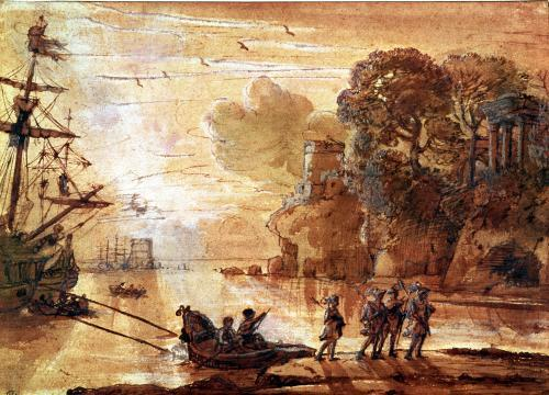 The Disembarkation of Warriors in a Port by Claude Lorraine