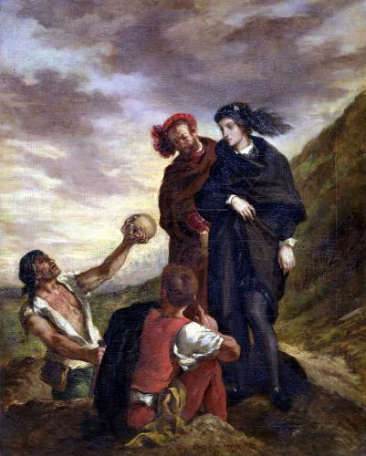 Hamlet and Horatio in the Cemetery from 'Hamlet' by Ferdinand Victor Eugene Delacroix