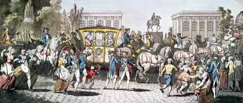 The Entry of Louis XVI into Paris 1789 by English School