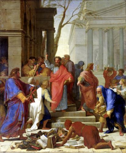 The Sermon of St. Paul at Ephesus 1649 by Eustache Le Sueur