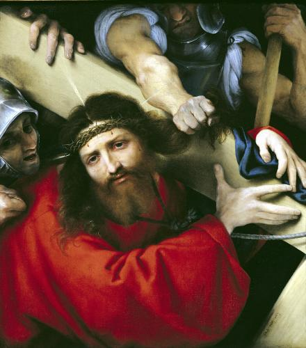 Christ Carrying the Cross 1526 by Lorenzo Lotto