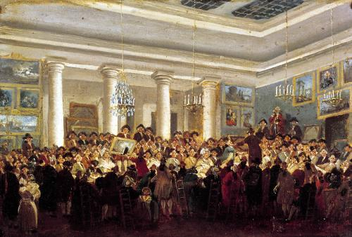 Public Sale at the Hotel Bullion by Pierre Antoine Demachy